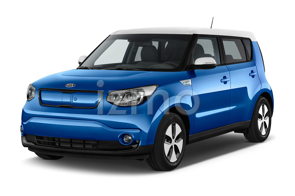 2017 KIA Soul EV Base 5 Door Hatchback angular front stock photos of front three quarter view