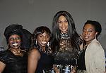 Alexandreena Dixon, Delaina Dixon, Maureen Tokeson-Martin pose with Beverly Johnson - Color of Beauty Awards honoring supermodel Beverly Johnson on February 4, 2014 at Holy Apostles, New York City, New York. (Photo by Sue Coflin/Max Photos)