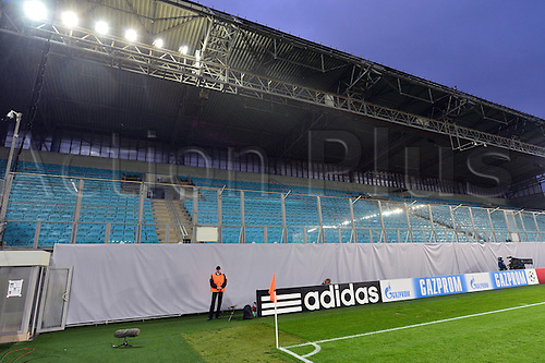 30.09.2014. Moscow, Russia.  The empty Khimki Arena prior to the UEFA Champions League group E soccer match between CSKA Moscow and Bayern Munich, Russia, 30 September 2014.