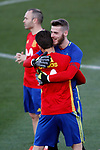 Spain's David De Gea (r) and Nacho Fernandez during training session. March 20,2017.(ALTERPHOTOS/Acero)