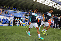 Pictured L-R: Kyle Naughton and Jack Cork of Swansea City  Saturday 27 August 2016<br />Re: Swansea City FC v Leicester City FC Premier League game at the King Power Stadium, Leicester, England, UK