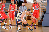 25 February 2012:  FIU guard Carmen Miloglav (24) recovers a loose ball in the first half as the FIU Golden Panthers defeated the University of South Alabama Jaguars, 58-55 (OT), at the U.S. Century Bank Arena in Miami, Florida.