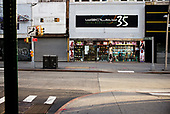 Brooklyn, New York<br /> March 18, 2020<br /> 7:50 AM<br /> <br /> Brooklyn under coronavirus pandemic. <br /> <br /> Fulton Street downtown Brooklyn with many shops and businesses closed and void of people in fear of spreading the virus. On a normal day this street would be full of people and buzzing.