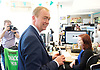 Tim Farron joins Vince Cable, Liberal Democrat Shadow Chancellor and candidate for Twickenham, on a visit to the HQ of Graze, one of the 100 fastest growing companies in the UK, <br /> <br /> The met Graze CEO Anthony Fletcher<br /> <br /> Tim Farron <br /> visits the office workers <br /> <br /> <br /> Photograph by Elliott Franks <br /> Image licensed to Elliott Franks Photography Services