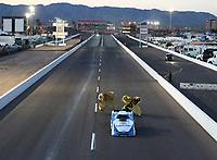 Feb 24, 2018; Chandler, AZ, USA; NHRA funny car driver John Force during qualifying for the Arizona Nationals at Wild Horse Pass Motorsports Park. Mandatory Credit: Mark J. Rebilas-USA TODAY Sports