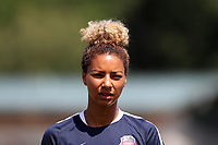 Cary, North Carolina  - Saturday August 19, 2017: Estelle Johnson prior to a regular season National Women's Soccer League (NWSL) match between the North Carolina Courage and the Washington Spirit at Sahlen's Stadium at WakeMed Soccer Park. North Carolina won the game 2-0.