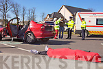 IMPACT: The impact of a dramatic crash scene played out by real emergency services personnel on Monday morning in Mercy Mounthawk school was evident by students reactions watching the display.