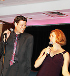Bonnie & Clyde's Victor Hernandez (Hairspray) and Leslie Becker (Anything Goes) perform at the Broadway Extravaganza to honor the Candidacy of Artist Jane Elissa for the Leukemia & Lymphoma Society, Man & Woman of the Year on April 23, 2012 at the New York Marriott Marquis, New York City, New York.  (Photo by Sue Coflin/Max Photos)