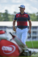 Gary Woodland (USA) after sinking his par putt on 8 during round 1 of the 2019 Tour Championship, East Lake Golf Course, Atlanta, Georgia, USA. 8/22/2019.<br /> Picture Ken Murray / Golffile.ie<br /> <br /> All photo usage must carry mandatory copyright credit (© Golffile | Ken Murray)