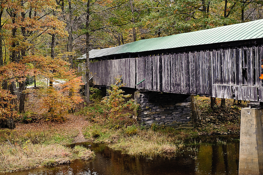 Scott covered bridge, (longest in Vermont), Townshend, Vermont, VT, USA