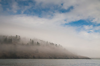 Morning Fog Burns Off, Stuart Island, Washington, US