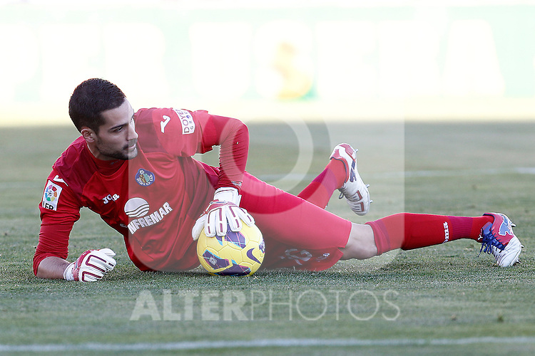 Getafe's Miguel Angel Moya during La Liga match.December 01,2012. (ALTERPHOTOS/Acero)