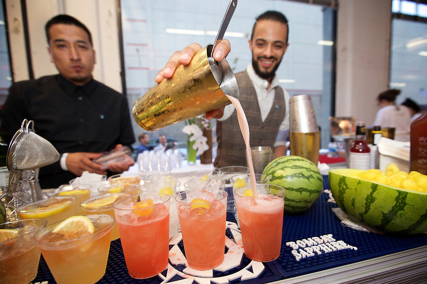 Brooklyn, NY - June 2, 2016: The fifth annual Lucky Rice Feast at Industry City in Sunset Park, Brooklyn.<br /> <br /> CREDIT: Clay Williams for Edible Brooklyn.<br /> <br /> &copy; Clay Williams / claywilliamsphoto.com