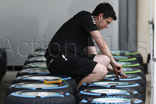 31.03.2016. Bahrain.  FIA Formula One World Championship  2016, Grand Prix of Bahrain, Pirelli, tyres readied for the race