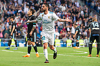 "Real Madrid Francisco Roman ""Isco"" celebrating a goal during La Liga match between Real Madrid and Celta de Vigo at Santiago Bernabeu Stadium in Madrid, Spain. May 12, 2018. (ALTERPHOTOS/Borja B.Hojas) /NORTEPHOTOMEXICO"