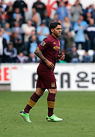 Pictured: Carlos Tevez.<br /> Saturday 04 May 2013<br /> Re: Barclay's Premier League, Swansea City FC v Manchester City at the Liberty Stadium, south Wales.