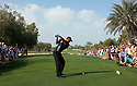 Tiger WOODS (USA) in action during the first round of the Omega Dubai Desert Classic played over the Majilis Course, Emirates Golf Club on 10th February 2011 in Dubai, UAE. Picture Credit / Phil Inglis / Golf Images....