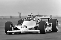 Bobby Rahal drives in the 1982 CART race in Cleveland, Ohio.