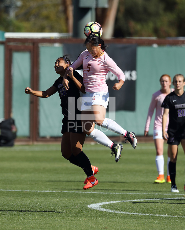 STANFORD, CA; October 2, 2016; Women's Soccer, Stanford vs Washington.