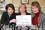 Volunteer Celebration Day: Hilary Egan, Brenda Clancy and Eibhlis Hanrahan of North Kerry Together who were in the Arms Hotel Listowel as past of the Volunteer Celebration Day on Monday..