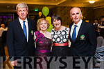 Kevin Cunningham and Joan Cunningham with Una and Owen Moynihan, enjoying the 40th Anniversary meal of the Kerry Branch of the Irish Referee Society at The Rose Hotel, Tralee on Saturday evening last.