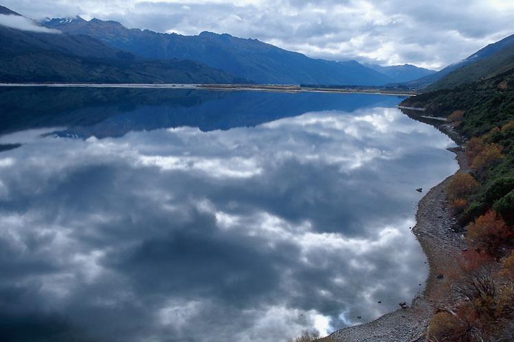 Still waters of Lake Wanaka, South Island, New Zealand