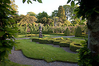 The leafy knot garden, imaginatively sculpted into different shapes and archways