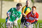Relegation replay. Dingle midfielder Billy O'Connor and Mike Burke of Milltown/Castlemaine's will do battle again on Sunday   Copyright Kerry's Eye 2008