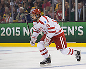 Nikolas Olsson (BU - 13) - The Providence College Friars defeated the Boston University Terriers 4-3 to win the national championship in the Frozen Four final at TD Garden on Saturday, April 11, 2015, in Boston, Massachusetts.