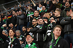 10.03.2018, BayArena, Leverkusen , GER, 1.FBL., Bayer 04 Leverkusen vs. Borussia Moenchengladbach<br /> im Bild / picture shows: <br /> Fans, freundlich, Stimmung, farbenfroh, Nationalfarbe, geschminkt, Emotionen, gladbacher <br /> <br /> <br /> Foto &copy; nordphoto / Meuter