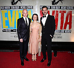Michael Cerveris, Elena Roger & Ricky Martin.attending the Broadway Opening Night Performance After Party for 'EVITA' at the Mariott Marquis Hotel in New York City on 4/5/2012