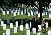 President Donald Trump visits Arlington National Cemetery