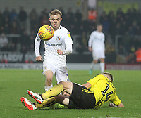 Coventry City's Luke Thomas  in action with Burton Albion's Damien McCrory<br /> <br /> Photographer Mick Walker/CameraSport<br /> <br /> The EFL Sky Bet League One - Burton Albion v Coventry City - Saturday 17th November 2018 - Pirelli Stadium - Burton upon Trent<br /> <br /> World Copyright &copy; 2018 CameraSport. All rights reserved. 43 Linden Ave. Countesthorpe. Leicester. England. LE8 5PG - Tel: +44 (0) 116 277 4147 - admin@camerasport.com - www.camerasport.com