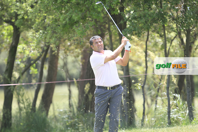 Ricardo Gonzalez (ARG) on the 2nd fairway during Round 3 of the Open de Espana  in Club de Golf el Prat, Barcelona on Saturday 16th May 2015.<br /> Picture:  Thos Caffrey / www.golffile.ie