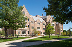 July 25, 2017; Jenkins and Nanovic Halls.  (Photo by Barbara Johnston/University of Notre Dame)