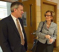 Hal Heiner, Secretary of the Education and Workforce Development Cabinet, takes a tour of the Academy @ Shawnee, the ESL Newcomer Academy, and an Early Childhood classroom.