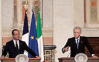 20120904 ROMA-ESTERI: INCONTRO MONTI-HOLLANDE A VILLA MADAMA: UNITA' DI INTENTI TRA ITALIA E FRANCIA