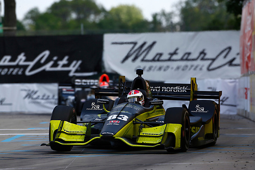 Verizon IndyCar Series<br /> Chevrolet Detroit Grand Prix Race 2<br /> Raceway at Belle Isle Park, Detroit, MI USA<br /> Sunday 4 June 2017<br /> Charlie Kimball, Chip Ganassi Racing Teams Honda<br /> World Copyright: Phillip Abbott<br /> LAT Images<br /> ref: Digital Image abbott_detroit_0617_8249