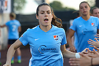 Piscataway, NJ - Saturday June 11, 2016: Kelley O'Hara during a regular season National Women's Soccer League (NWSL) match between Sky Blue FC and FC Kansas City at Yurcak Field.