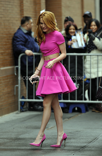 WWW.ACEPIXS.COM<br /> <br /> March 26 2015, New York City<br /> <br /> Actress Bella Thorne made an appearance at 'The View' on March 26 2015 in New York City<br /> <br /> By Line: Curtis Means/ACE Pictures<br /> <br /> <br /> ACE Pictures, Inc.<br /> tel: 646 769 0430<br /> Email: info@acepixs.com<br /> www.acepixs.com