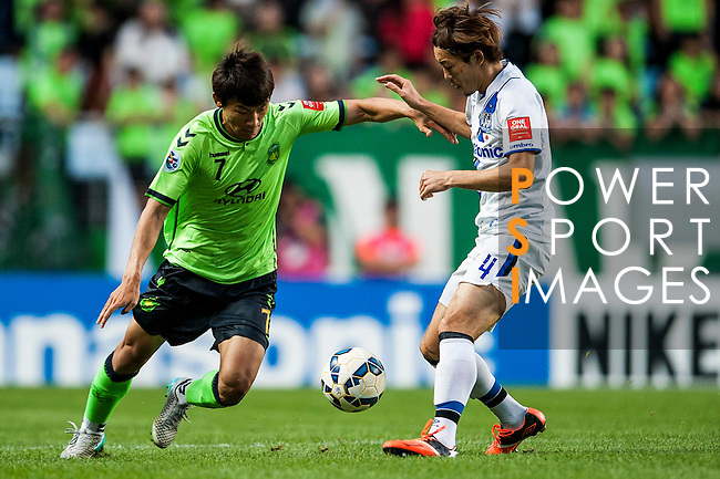 Jeonbuk Hyundai Motors vs Gamba Osaka during the 2015 AFC Champions League Quarter-Final 1st Leg match on August 26, 2015 at the Jeonju World Cup Stadium, in Jeonju, Korea Republic. Photo by Xaume Olleros /  Power Sport Images