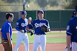 (R-L) Kenta Maeda, Jose De Leon (Dodgers),<br /> FEBRUARY 20, 2016 - MLB :<br /> Los Angeles Dodgers spring training baseball camp at Camelback Ranch in Glendale, Arizona, United States. (Photo by Thomas Anderson/AFLO) (JAPANESE NEWSPAPER OUT)