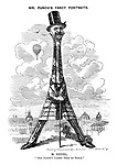 "Mr. Punch's Fancy Portraits. M. Eiffel. ""Our Artist's Latest Tour de Force."""