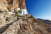 The monastery of Hozoviotissa in Amorgos island, Greece