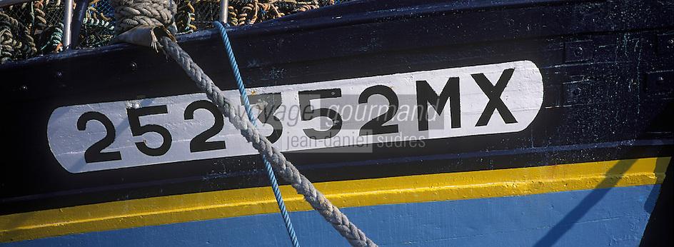 Europe/France/Bretagne/29/Finistère/Roscoff : Le port; détail des bateaux de pêche