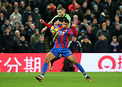 9th December 2017, Selhurst Park, London, England; EPL Premier League football, Crystal Palace versus Bournemouth; Ruben Loftus-Cheek of Crystal Palace is fouled by Simon Francis of Bournemouth and is awarded a free kick