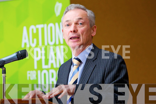 Minister Richard Bruton pictured at the Action plan for jobs at the Carlton Hotel on Monday.