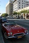 red Corvette in Pasadena