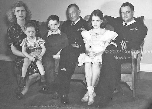 Washington, DC - (FILE) -- Family portrait from the office of United States Senator John McCain (Republican of Arizona), the presumptive 2008 Republican nominee for President of the United States, circa 1944.  From left to right: Roberta (John's Mother) Joe, John S. McCain III, Admiral John S. McCain, Sandy, John S. McCain, Jr..Credit: Office of Sen. McCain via CNP