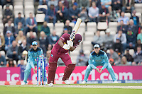 Evin Lewis (West Indies) is bowled by Chris Wakes (England) for 2 during England vs West Indies, ICC World Cup Cricket at the Hampshire Bowl on 14th June 2019